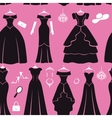 Black party dresses Silhouette seamless pattern vector image