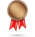bronze medal with red ribbon vector image