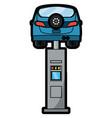 car lift machine icon vector image vector image