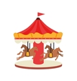 carrousel fair attraction icon vector image