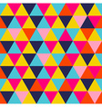 Colorful triangle geometric seamless pattern vector image