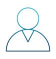 contact avatar symbol vector image