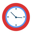 curved clock with hands pointers time management vector image