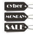 cyber monday sale tags cyber monday sale vector image