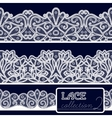 decorative lace set vector image
