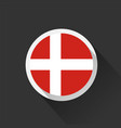 denmark national flag on dark background vector image vector image