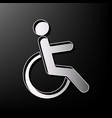 disabled sign gray 3d vector image