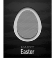 easter card with egg - chalkboard vector image vector image