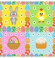 easter seamless set background card vector image vector image