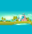 ecological power station building cartoon vector image vector image