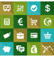 Finance and business icons in flat style
