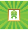 First place award picture icon vector image vector image