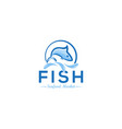 fish logo logo template vector image