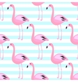 Flamingo seamless pattern Pink exotic bird vector image vector image