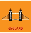 Flat icon of Tower Bridge in London vector image vector image