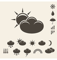 Forecast Icon set vector image