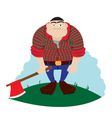 Funny Logger vector image vector image