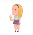 Girl holding ice-cream cone Dodo people vector image vector image