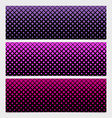 halftone square pattern banner template set vector image vector image