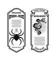 halloween poison label spider juice snake poison vector image vector image