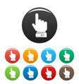 hand direction icons set color vector image vector image