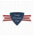 Happy Memorial Day realistic Emblem and Ribbon vector image vector image