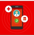 health emergency call mobile phone vector image vector image