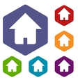 Home rhombus icons vector image vector image