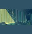 horizontal forest landscape sunlight breaks vector image