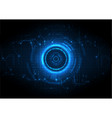 light blue futuristic game circuit technology vector image vector image