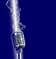 lightning stike microphone vector image