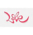 love handwritten lettering blank on vector image vector image