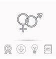 Male and female icon Traditional sexuality sign vector image vector image