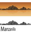 manzanillo skyline vector image