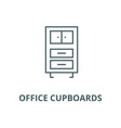 office cupboards line icon linear concept vector image vector image
