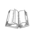 open book isolated on white background vector image vector image