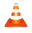Orange cone vector image