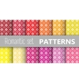 Pastel retro patterns vector image