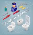 plumbing service isometric interior repairs vector image