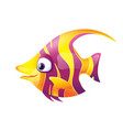 Pretty Smiling Striped Fish vector image vector image