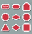red vintage labels set frames for design vector image vector image