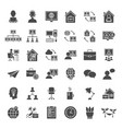 remote work solid web icons vector image