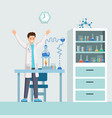 researchers success flat vector image