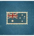 Retro Australia Flag Postage Stamp vector image vector image