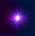 shining star explosion light effect bright blue vector image