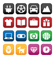 Shopping and Store Icons vector image vector image