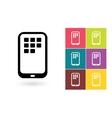 Smartphone icon or mobile symbol vector image vector image