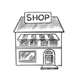 Store sketch with shop signboard vector image vector image