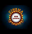 theater sign circle vector image vector image