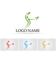 tree green people identity card logo template vector image